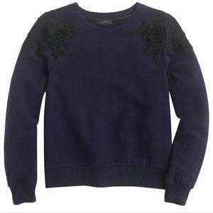 J Crew E4960 Blue Sweatshirt Sz XS